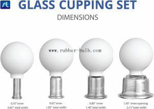 China Glass Facial Cupping Set-Silicone Vacuum Suction Massage Cups Anti Cellulite Lymphatic Therapy Sets For Eyes, Face And B on sale