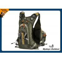 China Mesh Backing Portable Fly Fishing Backpack Vest Army Green Water Resistant on sale