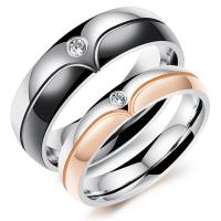 Rose Gold Custom Couple Rings Silver Classical Jewelry Unisex For Lovers