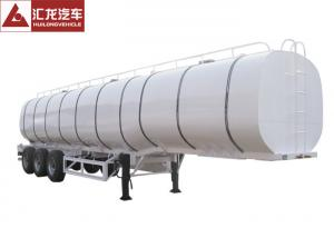 China Double Layer Chemical Tanker Truck Thermal Insulation 3 Axle  40000l Net Capacity on sale