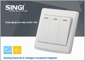 China italian new design wall switch and socket  3gang 2way  Generous elegant wall switch on sale