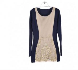 China Round Neck Long Sleeve Womens Casual Clothing on sale
