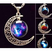 art picture galaxy pendant necklace glass cabochon  chock necklace women necklace jewelry