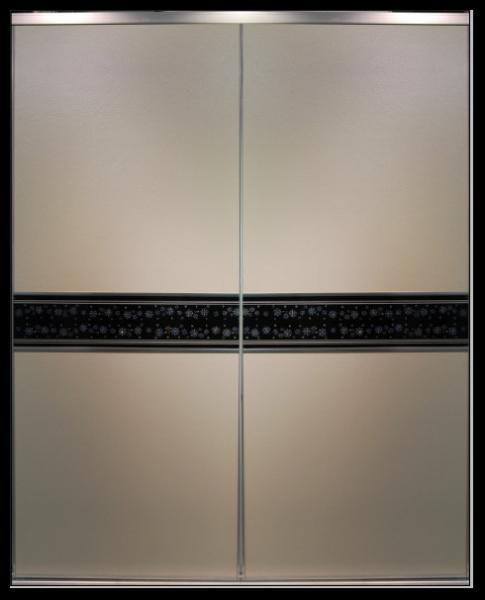 Luxury Upholstered Interior Wardrobe Door Classic Leather Sliding