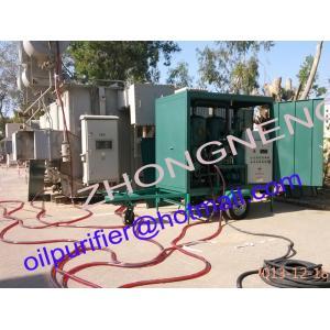 China Equipo inútil de la filtración de aceite del transformador, filtro de aceite del transformador con las ruedas de coche del remolque on sale