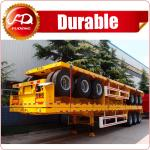 Cheap price flatbed semi trailer , 40ft flatbed trailer with container locks for sale