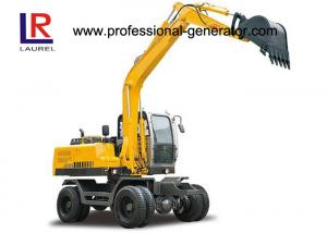 China 50KN Digging Force Heavy Construction Machinery , Wheel Excavator with 20Mpa Overdrive Pressure on sale