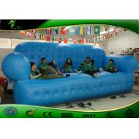 China Promotional Waterproof Fabric Blue Inflatable Sofa Bed Approved EN14960 on sale