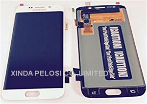 White Blue S6 Lcd Screen Digitizer Assembly 2560 X 1440