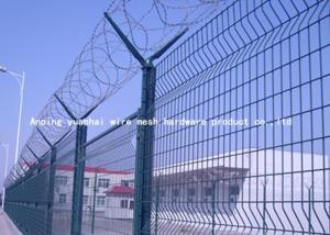China La cerca resistente del alambre de púas de la maquinilla de afeitar de Sun, Pvc cubrió los paneles de malla de alambre soldados con autógena on sale