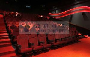 China Attractive Amusement machine 4D Motion Cinema / 3D movie cinema , yellow blue black 3D glasses on sale