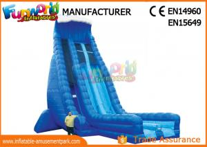 China Durable 30ft Tall Outdoor Inflatable Water Slides With Digital Printing on sale