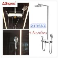 AT-H001 thermostat controlled shower valves metal body stainless steel colour top shower 380x160mm big platform
