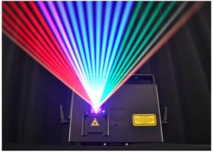 China Pure Diode RGB Laser Light 1800mw Full Color Mini  Laser Projector , 60° Scan Angle on sale