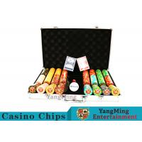 China Texas Poker Chip Set / 11.5g Clay Casino Chip With Aluminum Case on sale
