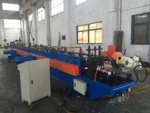 China Petit pain automatique de porte de volet en métal de deux canalisations formant la longueur de la machine 11500mm on sale