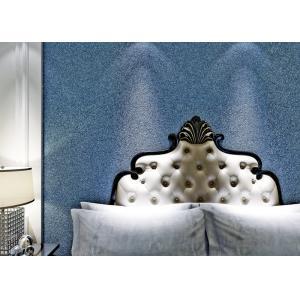 China Blue Modern Removable Wallcovering Living Room Sandstone Mica Wallpaper on sale