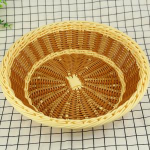 China wholesale  multifunction fruit decorative basket PP imitation rattan storage baskets on sale