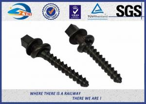 China ISO SGS inspected  Q235 35# 45# Railway Sleeper Spikes  Black Oxide Screws on sale