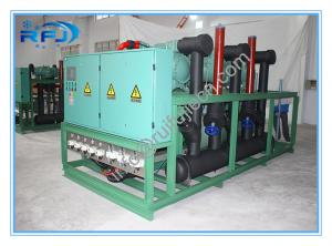 China Air cooled three screw compressor rack high temperature condensing unit for blast freezer on sale