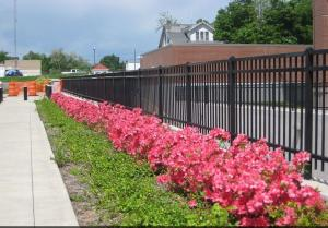 China Powder Coating Black Steel Fence Black Security Fence For Schools / Factories on sale