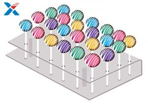 China 21 Holes Clear Acrylic Cake Pop Stand , Transparent Acrylic Lollipop Stand on sale