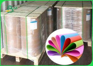 China 70gsm - 250gsm Smooth Surface Green / Blue / Red Colored Offset Paper For Printing on sale