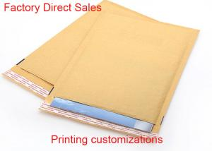 China Padded Courier Kraft Paper Bubble Mailers 2 Sealing Sides Logo Printing Envelope on sale