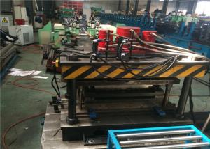 China Pallet Storage Rack Roll Forming Machine 35.5kw Nine Rollers Gearbox Driven on sale