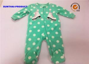 China Skating Shoes Applique Baby Pram Suit Big Dot AOP Long Sleeve Coverall on sale