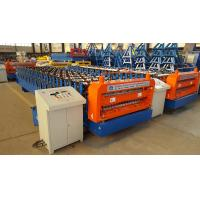 PLC Control Double Layer Sheet Metal Roll Forming Machines 18 Month Warranty