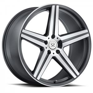China 5*114.3 gray machine face customs 1 piece forged alloy wheel rim for Lexus on sale