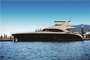 China Fiberglass Sport Motor Yachts 70 Feet Engine Capacity Volvo 725hpx2 21.6m Length on sale