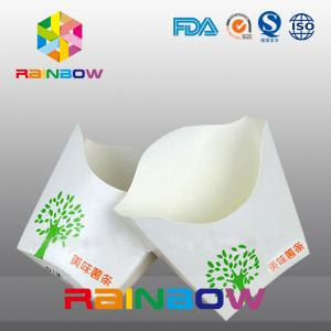 China Customized Disposable Take Away Flat Bottom Paper French Fry Packaging Box on sale