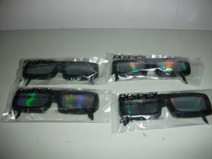 China vidrios tridimensionales de los fuegos artificiales vidrios/3d de las lentes del laser del PVC/del ANIMAL DOMÉSTICO de 0.06m m on sale