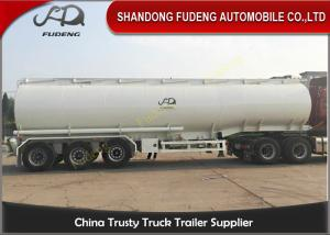 China Oil Tanker Trailer With Lifting Front Axle , Tanker Truck Trailer? Q345 Carbon Steel on sale