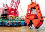 10m3 Clamshell River Sand Dredging Machine With Electromagnetic Brake 15~23.5m Working Redius