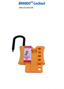 China BO-K44/K45 non-conductive Nylon shackle and plastic body lockout HASP, high safety HASP lockout on sale