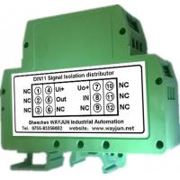 China WAYJUN 3000VDC isolation rail Loop-Powered 4-20mA Signal Isolator Green DIN35 signal converter on sale