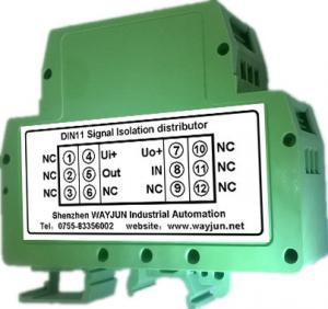 China WAYJUN 3000VDC isolation rail Loop-Powered 4-20mA Signal Isolator Green DIN35 signal converter on sale