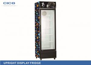 China Hotel Restaurant Refrigeration 238L Upright Display Refrigerator Painted Aluminum Interior on sale
