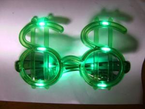 Flashing Dollar Sign Sungles Sgyj 24 R G B Multicolor 10pcs Led