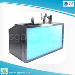 Quality Aluminum Portable Bar Folding Bar Counter With Wheels For Club And  Events For Sale