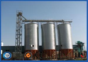 China Corrugated Hot Dip Galvanized Steel Grain Silo With Temperature Moisture Inspection Sensor on sale