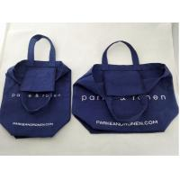 customize natural white promotional cotton bag with logo print