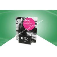 Printed Cardboard Standees Brochure Holder Counter Top With Foldable With Gloss Lamination