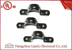 China ISO9001 Electro Galvanized EMT Straps Clamps with Two Hole , 3/4 1 Up to 4 on sale