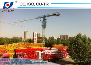 China QTP7427 Topless 74m Jib Lenght 18ton Max. Load Flattop Tower Crane with Low Price on sale
