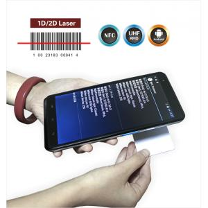 China Quad-core CPU Android tablet PC integrate 1D 2D barcode scanner, NFC UHF RFID reader writer WIFI 3G BT on sale