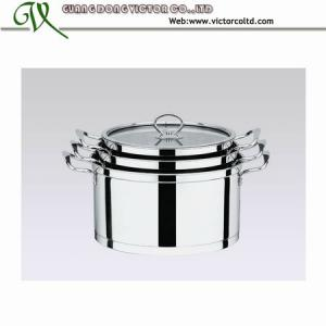 China 3 PCS Stainless steel European Pot set 18cm 20cm 22cm 24cm 26cm capsulated bottom on sale